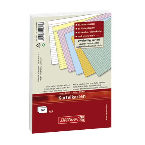 Karteikarten A7 kariert rot Brunnen 10-2270220 (PACK=100 STÜCK) Produktbild Additional View 1 L