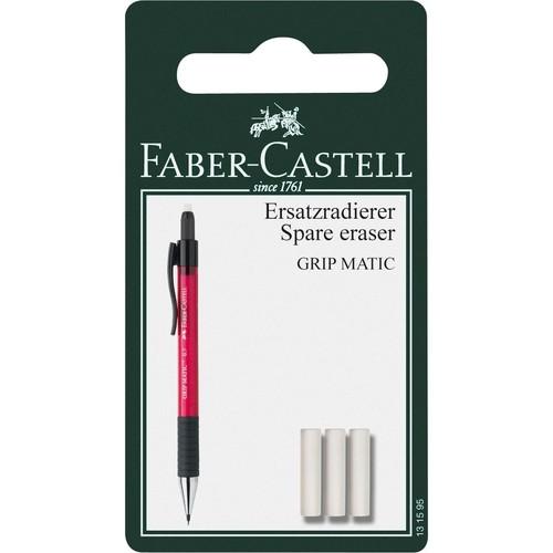 Ersatz-Radiergummi für Druckbleistift GRIP MATIC Faber Castell 131595 (PACK=3 STÜCK) Produktbild Front View L