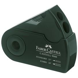 Doppelspitzer SLEEVE mit Behälter + Schutzhülle grün Faber Castell 582800 Produktbild