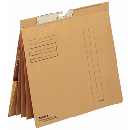 Pendel Mehrfachhefter kaufmännische Heftung 250g braun Natron-Karton Leitz 2183-00-00 Produktbild