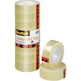Klebeband Scotch 550 19mm x 33m transparent klar 3M 5501933 (PACK=8 ROLLEN) Produktbild