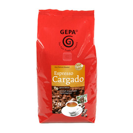 Kaffee Cargado Espresso ganze Bohnen GEPA 891091101 (PACK=1 KILOGRAMM) Produktbild