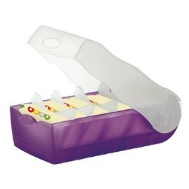 Karteibox Croco inkl. 5 Stützplatten und 100 Karten A8 97x191x67mm für 500Karten lila Kunststoff HAN 998-673 Produktbild
