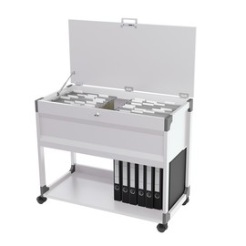 Hängemappenwagen System File Trolley 100 Multi Top einbahnig 875x736x432mm für 100 Hängemappen grau Durable 3787-10 Produktbild