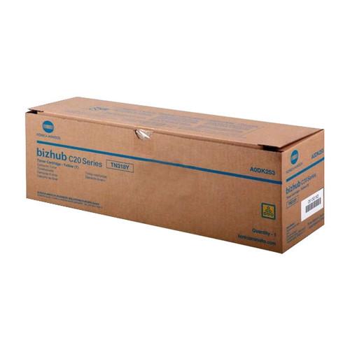 Toner TN-318Y für Bizhub C20/C20P/C20PX 8000Seiten yellow Konica/Minolta A0DK253 Produktbild Front View L