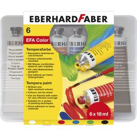 Temperafarbe farbig sortiert in Plastikbox Eberhard Faber 575505 (PACK=6x 18 MILLILITER) Produktbild
