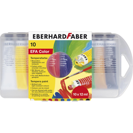 Temperafarbe farbig sortiert in Plastikbox Eberhard Faber 575510 (PACK=10x 12 MILLILITER) Produktbild