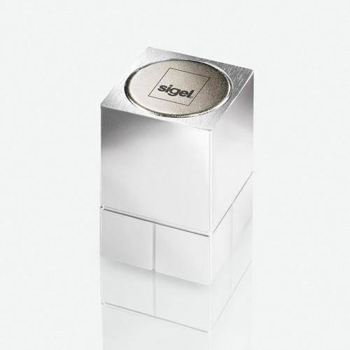 SuperDym-Magnet-Würfel C30 artverum Cube-Design 20x30x20mm silber vernickelt ultra stark Sigel GL197 Produktbild Additional View 1 L