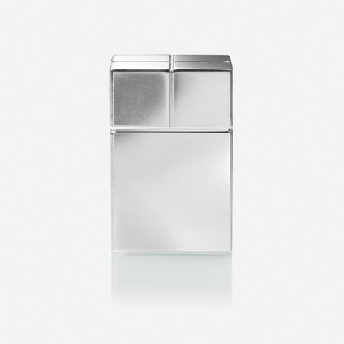 SuperDym-Magnet-Würfel C30 artverum Cube-Design 20x30x20mm silber vernickelt ultra stark Sigel GL197 Produktbild Additional View 2 L