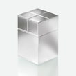 SuperDym-Magnet-Würfel C30 artverum Cube-Design 20x30x20mm silber vernickelt ultra stark Sigel GL197 Produktbild Additional View 3 S