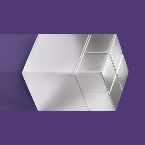 SuperDym-Magnet-Würfel C30 artverum Cube-Design 20x30x20mm silber vernickelt ultra stark Sigel GL197 Produktbild Additional View 4 L