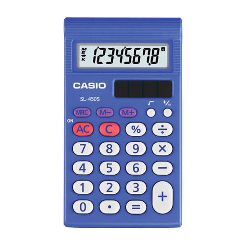 Taschenrechner 8-stelliges LCD-Display 7,8x67x120mm Batteriebetrieb Casio SL-450 S Produktbild Front View L