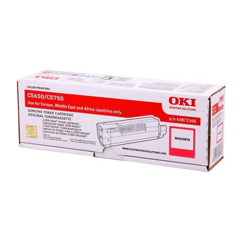 Toner für Oki C5650/C5750 2000 Seiten magenta OKI 43872306 Produktbild Front View L
