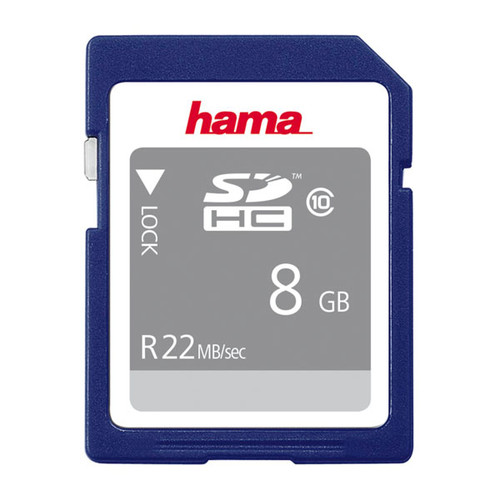 SDHC Memory Card Class10 8GB Hama 00104366 Produktbild Front View L