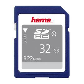 SDHC Memory Card Class10 32GB Hama 00104368 Produktbild