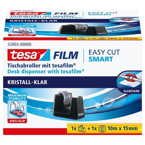 Tischabroller Smart + 1Rolle Tesafilm füllbar bis 19mm x 33m schwarz Tesa 53903-00000-00 Produktbild
