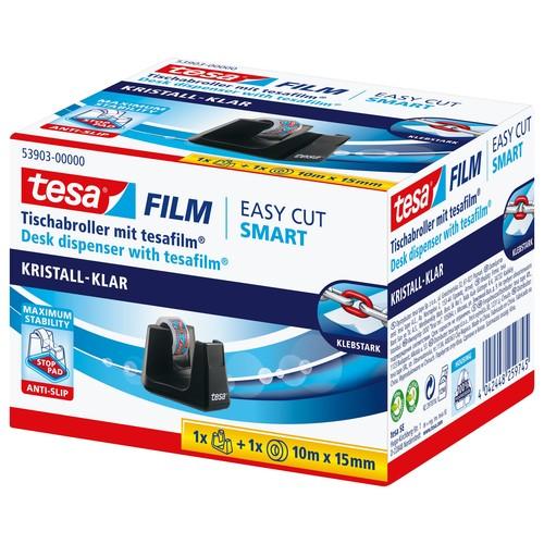 Tischabroller Smart + 1Rolle Tesafilm füllbar bis 19mm x 33m schwarz Tesa 53903-00000-00 Produktbild Additional View 2 L