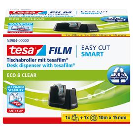 Tischabroller Smart + 1Rolle Eco & Clear füllbar bis 19mm x 33m schwarz Tesa 53904-00000-00 Produktbild