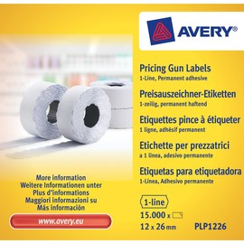 Auszeichnungsetiketten permanent 26x12mm 1-zeilig weiß Zweckform PLP 1226 Produktbild