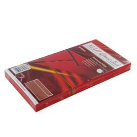 Briefumschlag ohne Fenster 114x229mm mit Haftklebung 120g rot (PACK=25 STÜCK) Produktbild