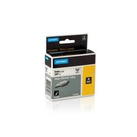 Heißschrumpfschlauch Rhino 9mm x 1,5m schwarz auf weiß Dymo 18053 (ST=1,5 METER) Produktbild