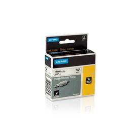 Heißschrumpfschlauch Rhino 19mm x 1,5m schwarz auf weiß Dymo 18057 (ST=1,5 METER) Produktbild