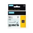 Schriftband IND Rhino 9mm/5,5m schwarz auf weiß Vinyl Dymo 18443 (ST=5,5 METER) Produktbild Additional View 1 S
