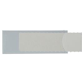 Sichtfenster Uni-Schildchen für Briefkörbe 53x19mm weiß Kunststoff Leitz 6004-00-01 (BTL=50 STÜCK) Produktbild