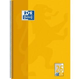 Collegeblock Oxford 4-fach Lochung A4 kariert mit Rand 80Blatt 90g Optik Paper weiß gelb 100050356 Produktbild