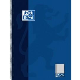 Collegeblock Oxford 4-fach Lochung A4 kariert mit Rand links 80Blatt 90g Optik Paper weiß nachtblau 100050358 Produktbild