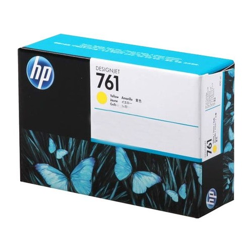 Tintenpatrone 761 für HP DesignJet T7100 400ml yellow HP CM992A Produktbild Front View L