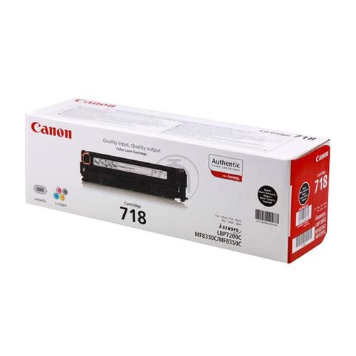 Toner 718BK für LBP-7200 3400 Seiten schwarz Canon 2662b002 Produktbild Front View L