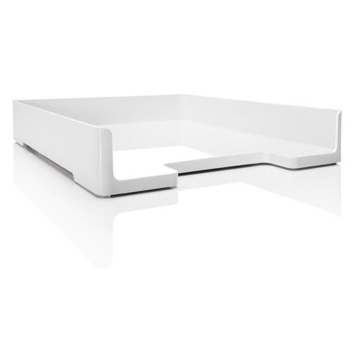 Briefablage eyestyle A4 268x50x333mm weiß High-Gloss ABS Kunststoff Sigel SA107 Produktbild