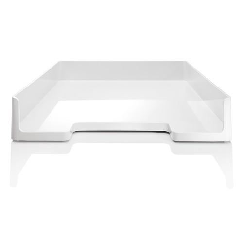 Briefablage eyestyle A4 268x50x333mm weiß High-Gloss ABS Kunststoff Sigel SA107 Produktbild Additional View 1 L