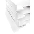 Briefablage eyestyle A4 268x50x333mm weiß High-Gloss ABS Kunststoff Sigel SA107 Produktbild Additional View 2 S