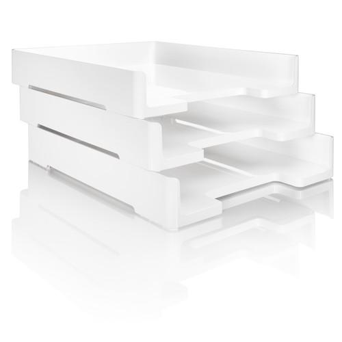 Briefablage eyestyle A4 268x50x333mm weiß High-Gloss ABS Kunststoff Sigel SA107 Produktbild Additional View 4 L