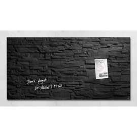 Glas-Magnetboard artverum 910x460x15mm Design Schiefer-Stone inkl. Magnete Sigel GL149 Produktbild