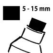 Kreidemarker 150 artverum 5-15mm Keilspitze abwischbar schwarz Sigel GL170 Produktbild Additional View 5 S