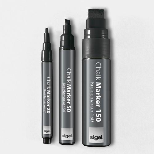 Kreidemarker 150 artverum 5-15mm Keilspitze abwischbar schwarz Sigel GL170 Produktbild Additional View 4 L