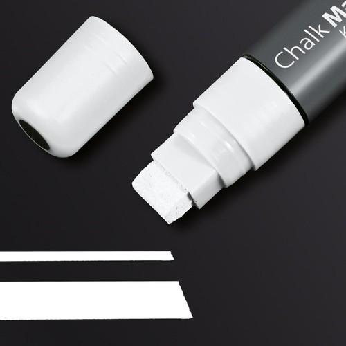 Kreidemarker 150 artverum 5-15mm Keilspitze abwischbar weiß Sigel GL171 Produktbild Additional View 1 L
