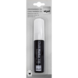 Kreidemarker 150 artverum 5-15mm Keilspitze abwischbar weiß Sigel GL171 Produktbild