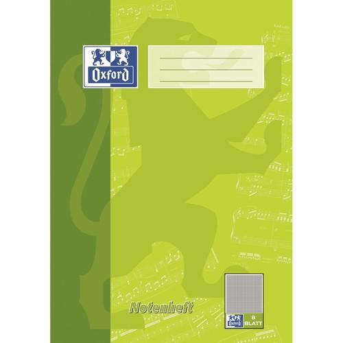Notenheft Oxford A4 mit Hilfslinien 8Blatt 90g Optik Paper weiß 100050399 Produktbild Front View L