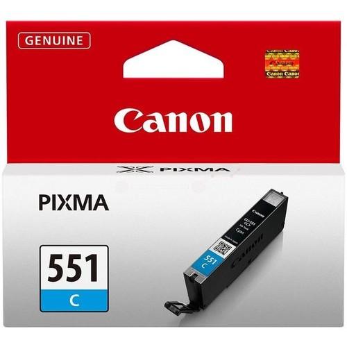 Tintenpatrone CLI-551C für Canon Pixma JP7250/MG5450 7ml cyan Canon 6509b001 Produktbild Additional View 1 L