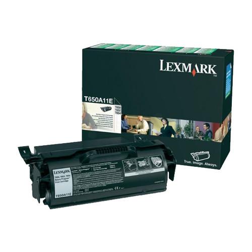 Toner für T650 7000Seiten schwarz Lexmark T650A11E Produktbild Front View L