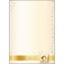 Weihnachts-Motiv-Papier A4 90g Golden Times Sigel DP033 (PACK=100 BLATT) Produktbild