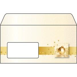 Weihnachts-Briefumschläge DIN lang 90g Golden Times gummiert Sigel DU032 (PACK=50 STÜCK) Produktbild
