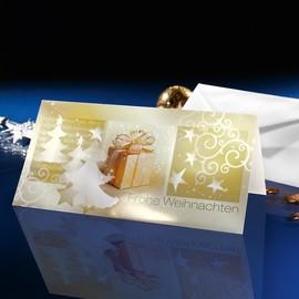 Weihnachts-Faltkarten inkl. Umschläge DIN lang 220g Surprise Sigel DS015 (PACK= JE 10 STÜCK) Produktbild