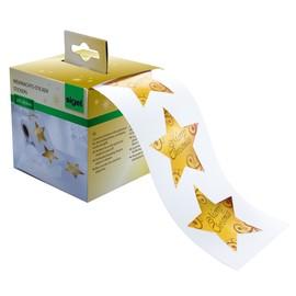 Weihnachts-Sticker auf der Rolle Christmas Stars gold Sigel CS112 (PACK=200 STÜCK) Produktbild