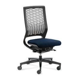 Drehstuhl Mera88 ohne Armlehnen ohne Kopfstütze mit Netzrücken Farbe 472 navy blau Klöber Produktbild