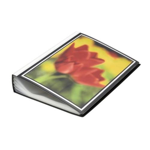 Sichtbuch mit 100 Hüllen A4 schwarz FolderSys 25819-30 Produktbild Front View L